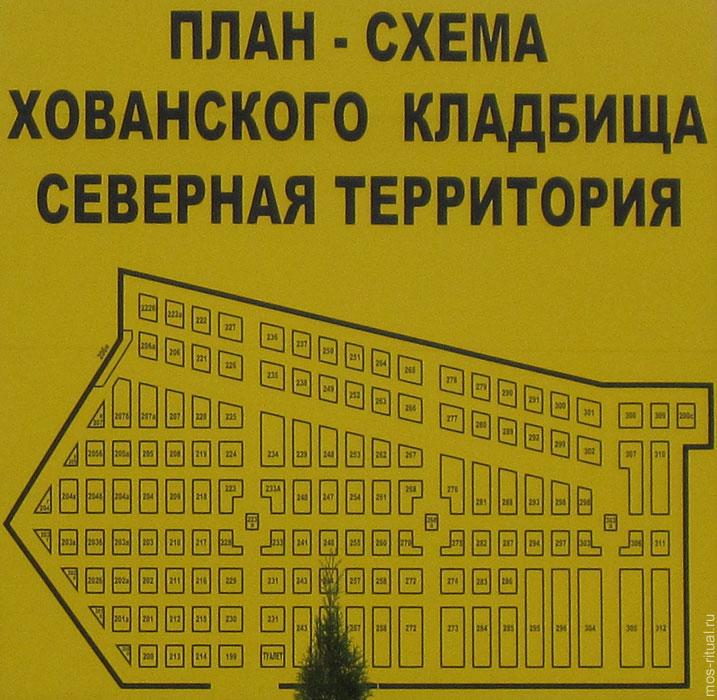 Схема севереной территории